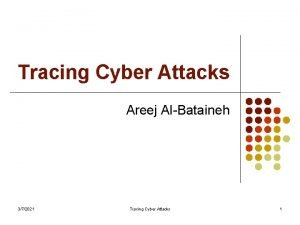 Tracing Cyber Attacks Areej AlBataineh 372021 Tracing Cyber