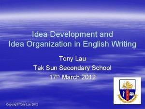 Idea Development and Idea Organization in English Writing