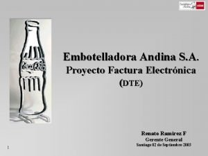 Embotelladora Andina S A Proyecto Factura Electrnica DTE