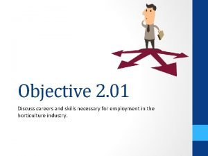 Objective 2 01 Discuss careers and skills necessary