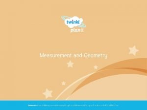 Measurement and Geometry Year One Mathematics Year 1
