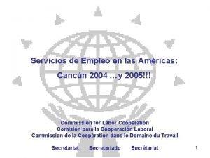 Servicios de Empleo en las Amricas Cancn 2004