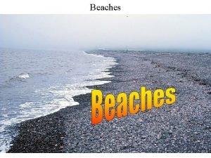 Beaches Beach Profile A beach environment consists of