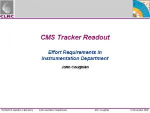 CMS Tracker Readout Effort Requirements in Instrumentation Department