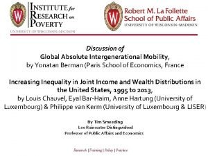 Discussion of Global Absolute Intergenerational Mobility by Yonatan