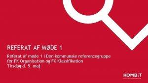 REFERAT AF MDE 1 Referat af mde 1