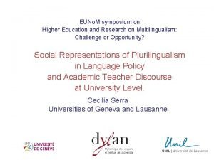 EUNo M symposium on Higher Education and Research