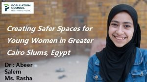Creating Safer Spaces for Young Women in Greater