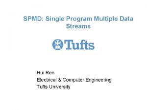 SPMD Single Program Multiple Data Streams Hui Ren