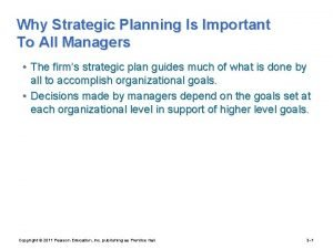 Why Strategic Planning Is Important To All Managers