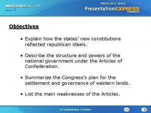 Chapter Section 25 Section 1 1 Objectives Explain