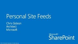 2012 Microsoft Corporation All rights reserved 2012 Microsoft