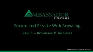 Secure and Private Web Browsing Part 1 Browsers