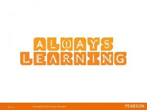 Ch 5 1 Copyright 2011 Pearson Education Strategic