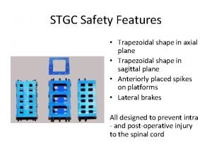 STGC Safety Features Trapezoidal shape in axial plane