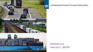 November 2019 www cpb nl CPBnl Inhoud Waaruit