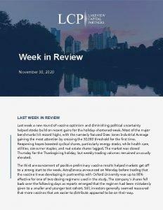 Week in Review November 30 2020 LAST WEEK