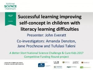 Successful learning improving selfconcept in children with literacy