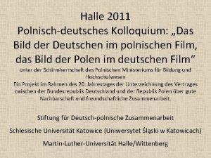 Halle 2011 Polnischdeutsches Kolloquium Das Bild der Deutschen