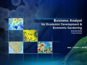 Business Analyst for Economic Development Economic Gardening Brenda
