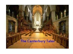 The Canterbury Tales The Canterbury Tales Who was