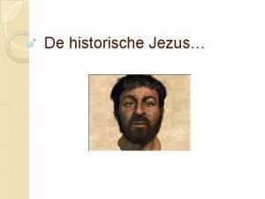 De historische Jezus Het evangelie volgens Jezus Christus