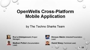 Open Wells CrossPlatform Mobile Application by The Techno
