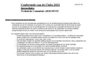 Conferentie van de Clubs 2013 Appendix 14 3