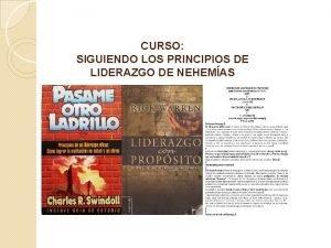 CURSO SIGUIENDO LOS PRINCIPIOS DE LIDERAZGO DE NEHEMAS