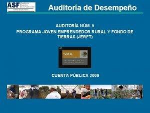 Auditora de Desempeo AUDITORA NM 5 PROGRAMA JOVEN