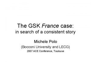 The GSK France case in search of a