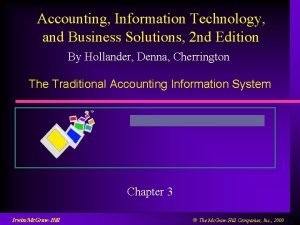 Accounting Information Technology and Business Solutions 2 nd