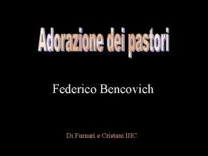 Federico Bencovich Di Furnari e Cristani IIIC Lautore