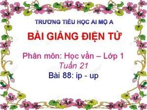 TRNG TIU HC I M A BI GING