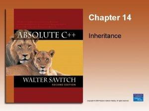 Chapter 14 Inheritance Learning Objectives Inheritance Basics Derived