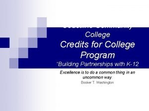 Coastline Community College Credits for College Program Building