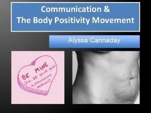 Communication The Body Positivity Movement Alyssa Cannaday Introduction