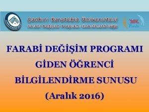 FARAB DEM PROGRAMI GDEN RENC BLGLENDRME SUNUSU Aralk