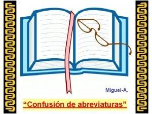 MiguelA Confusin de abreviaturas Una familia Inglesa pasaba