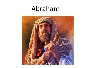 Abraham De tijd van Abraham geslachtsregisters Gen 5