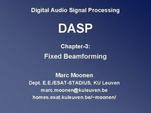Digital Audio Signal Processing DASP Chapter3 Fixed Beamforming