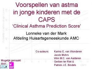 Voorspellen van astma in jonge kinderen met de