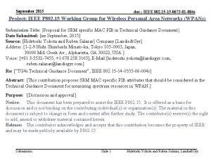 September 2015 doc IEEE 802 15 15 0673