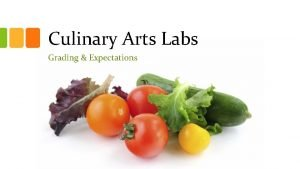 Culinary Arts Labs Grading Expectations Grading Reminder Be