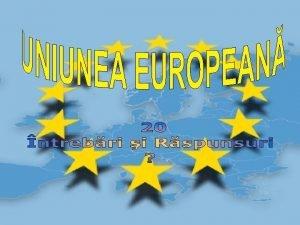 1 Care este deviza Uniunii Europene Rspuns Unitate