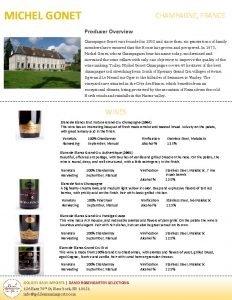 MICHEL GONET CHAMPAGNE FRANCE Producer Overview Champagne Gonet