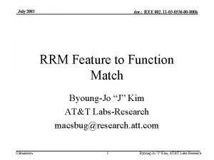 July 2003 doc IEEE 802 11 03 0536