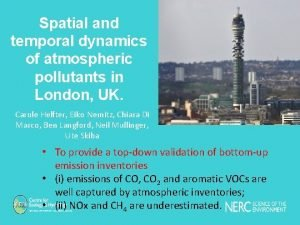 Spatial and temporal dynamics of atmospheric pollutants in