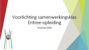Voorlichting samenwerkingsklas Entreeopleiding 21 januari 2019 Algemene zaken