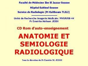 Facult de Mdecine Ibn El Jazzar Sousse Hpital